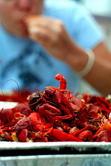 Crawfish boil the halal way.