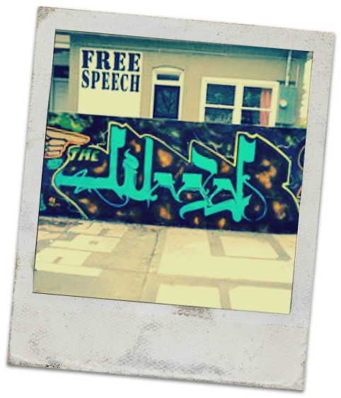 jihad graffiti
