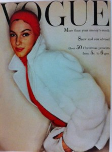 vogue-cover-1950s-woman-in-white-coat-red-hoodie-1954