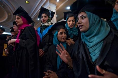 Muslim women graduation