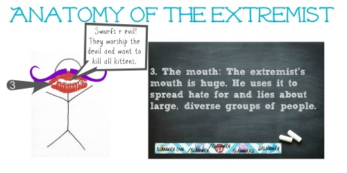 The extremist's mouth
