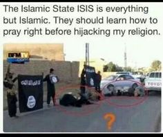 ISIS praying wrong