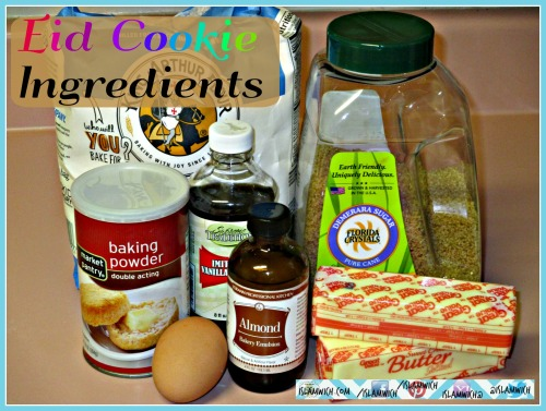 Eid Cookie ingredients