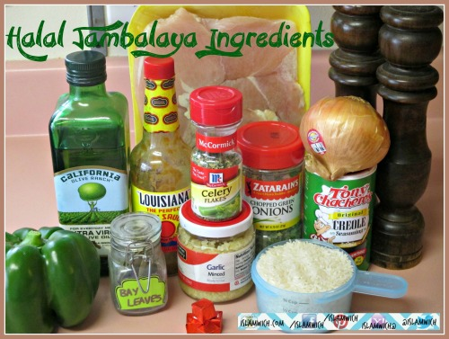 halal jambalaya ingredients