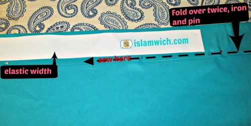fold and pin waist