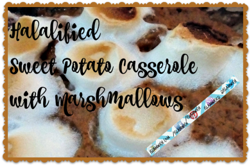 halal marshmallow sweet potato casserole