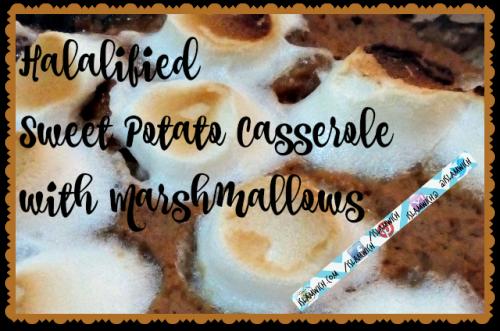 halal marshmallow sweet potato casserole