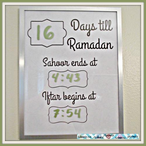 pre Ramadan frame
