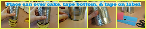can, tape, label