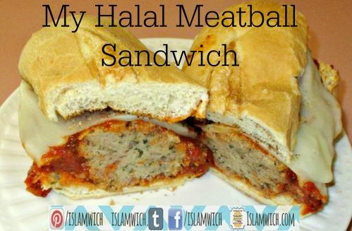 My Halal Meatball sandwich